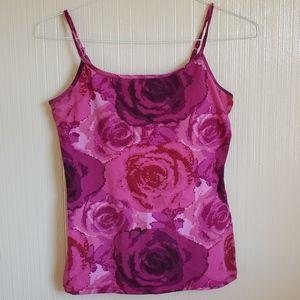Express | Rose Print Bra Cami Tank